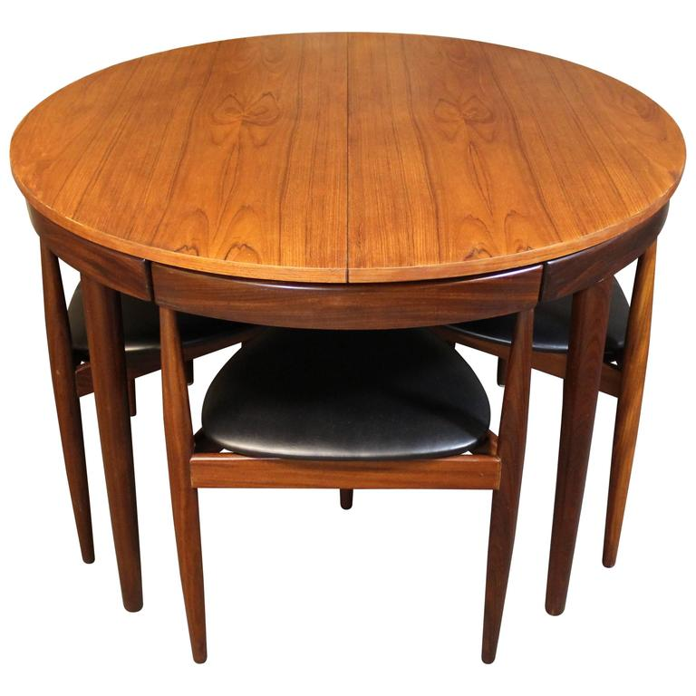 Hans Olsen Teak Roundette Dining Room Set For Frem Rojle Danish Modern 1