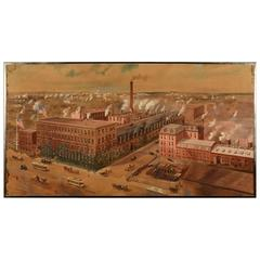 Rare Industrial Factory, Gouache on Paper, J.H.Williams & Co by Richard Rummell