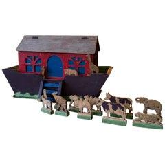 19th Century Handcrafted Folk Art Noah's Ark
