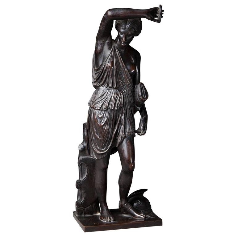 Bronze of the Goddess Diana by Barbedienne For Sale