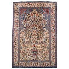 Extraordinary Early 20th Century Kashan Prayer Rug