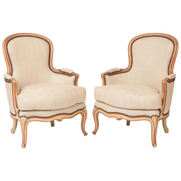 Pair of French Bergeres in the Louis XV Taste by Maison Gouffe, circa 1930