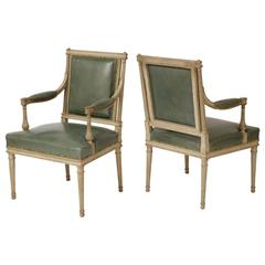 Pair of French Neoclassical Armchairs in the Louis XVI Taste by Madison Jansen