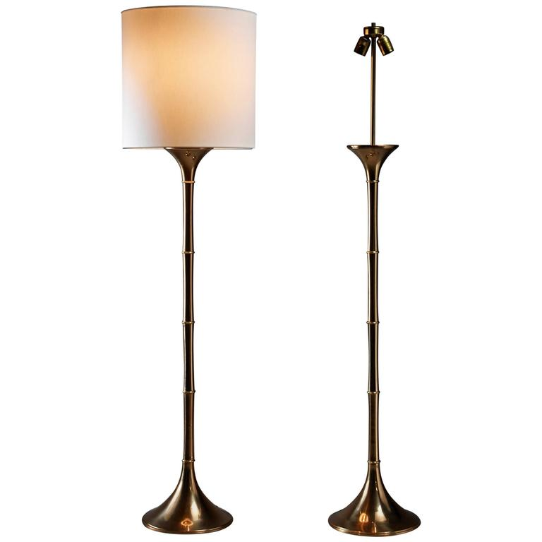 Ingo Maurer Pair of Brass \'Bamboo\' Floor Lamps, Germany, 1960s For ...
