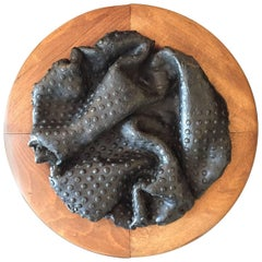 Unique Abstract Ceramic Wall Sculpture, Dated 1966