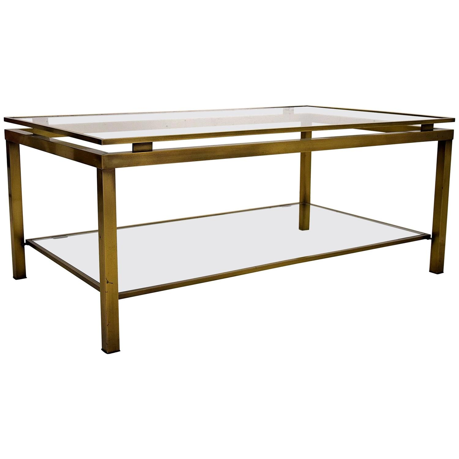 Maison Jansen Brass Coffee Table By Guy Lefevre At 1stdibs