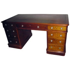 19th century English Regency Mahogany Desk