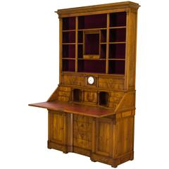 Early 20th Century French Scriban Bibliotheque