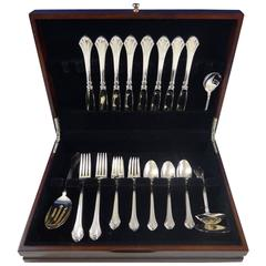 French Regency by Wallace Sterling Silver Flatware Set for Eight Service 37 Pcs