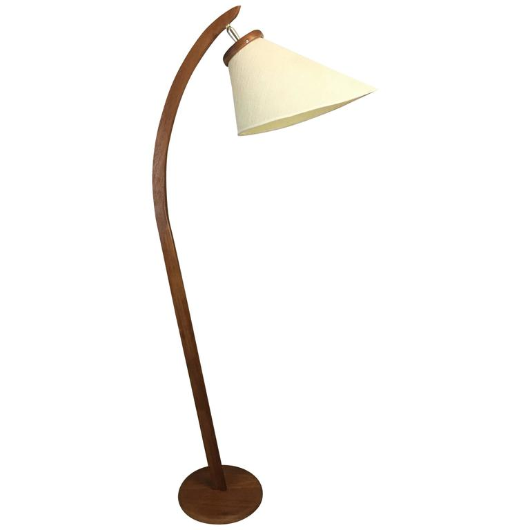 danish inspired teak floor lamp circa 1960 mid century modern for. Black Bedroom Furniture Sets. Home Design Ideas