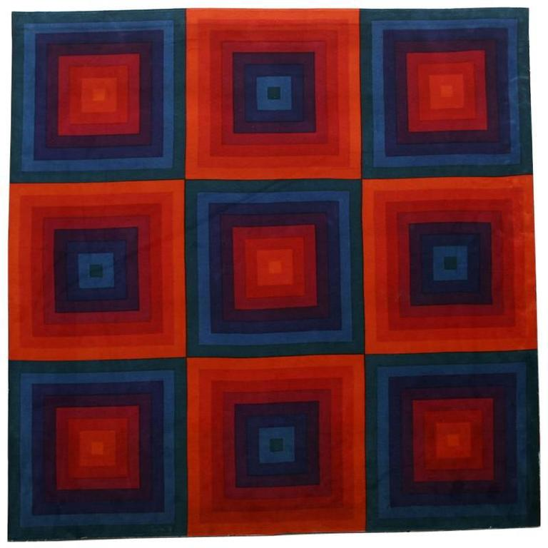 'Large Squares' Velour Fabric by Verner Panton for Spectrum Mira-X