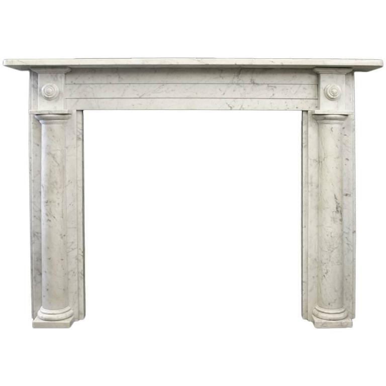 Georgian Carrara Marble Fireplace Mantle