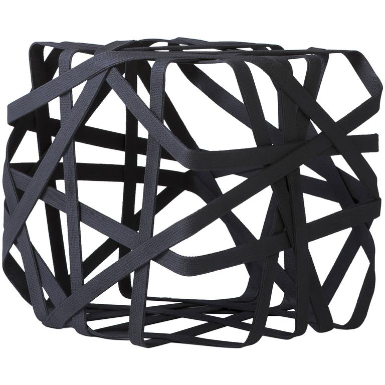 Woven Cube Side Table