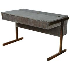Paul Marra Writing File Desk in Ceruse Walnut Finish
