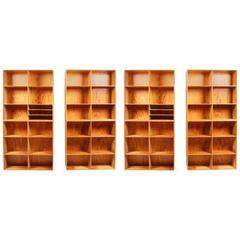 Four Mogens Koch Bookcases in Pine