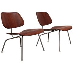 Pair of Eames for Herman Miller LCM Chairs in Walnut
