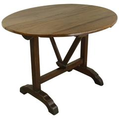 Antique French Elm Wine Table