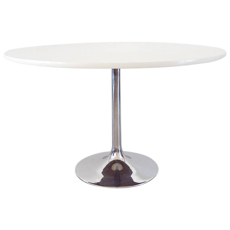 White Tulip Dining Table By Borge Johanson For Sale