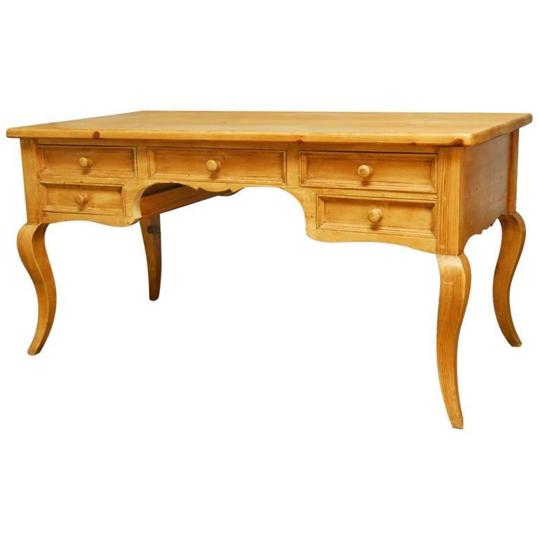 Rustic Carved Pine Desk At 1stdibs