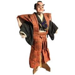 Japanese Bunraku Samurai Puppet, Meiji Period