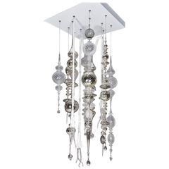 Contemporary Compendant Hanging Glass Sculpture