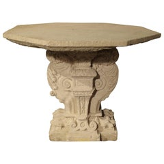Rare Period Renaissance Stone Table from the South of France