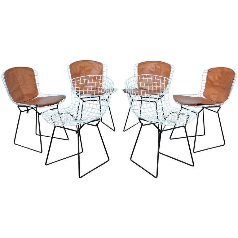 Harry bertoia dining side chairs for knoll associates for Knoll and associates