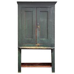 Painted Cupboard with Low Shelf, American, Mid-19th Century