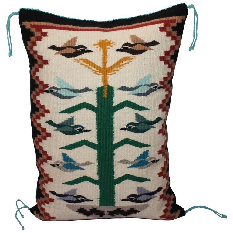 Navajo Weaving Tree of Life Pillow