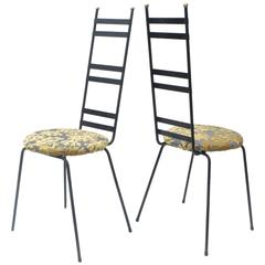 Pair of Tall Back Bistro Chairs in the Manner of Umanoff