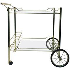 Beautiful Brass Bar or Tea Cart for the Design Institute of America