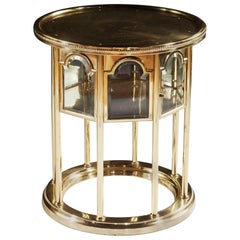 Mid Century Modern Polished Brass Occasional Table - Viennese Moorish Side Table