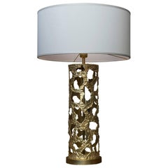 """Flair Edition """"Cylinder"""" Brass Table Lamp"""