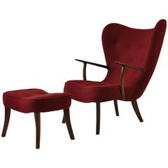Madsen and Schubell Pragh Lounge Chair and Ottoman
