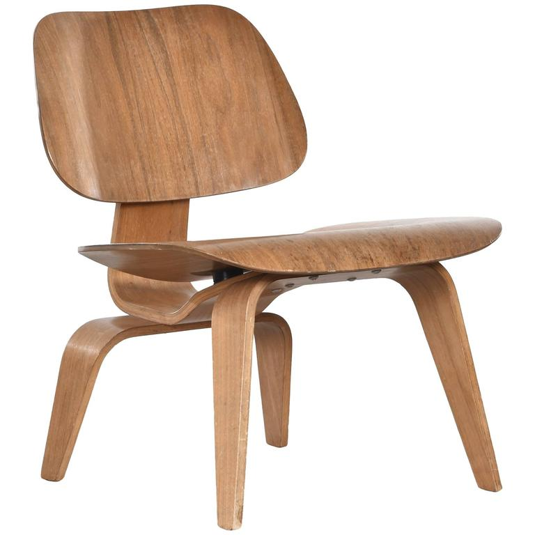 herman miller wood chair. eames lcw walnut lounge chair for herman miller 1 wood r
