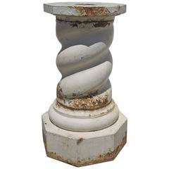 19th Century Cast Iron Garden Pedestal