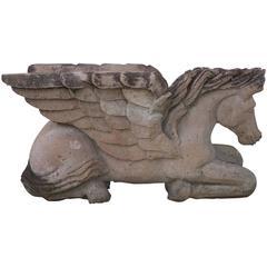 Decorative Terracotta Pegasus Statue Table Base