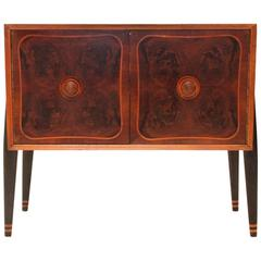 Art Deco Italian Bar Cabinet with Turntable from OLAP, 1940s