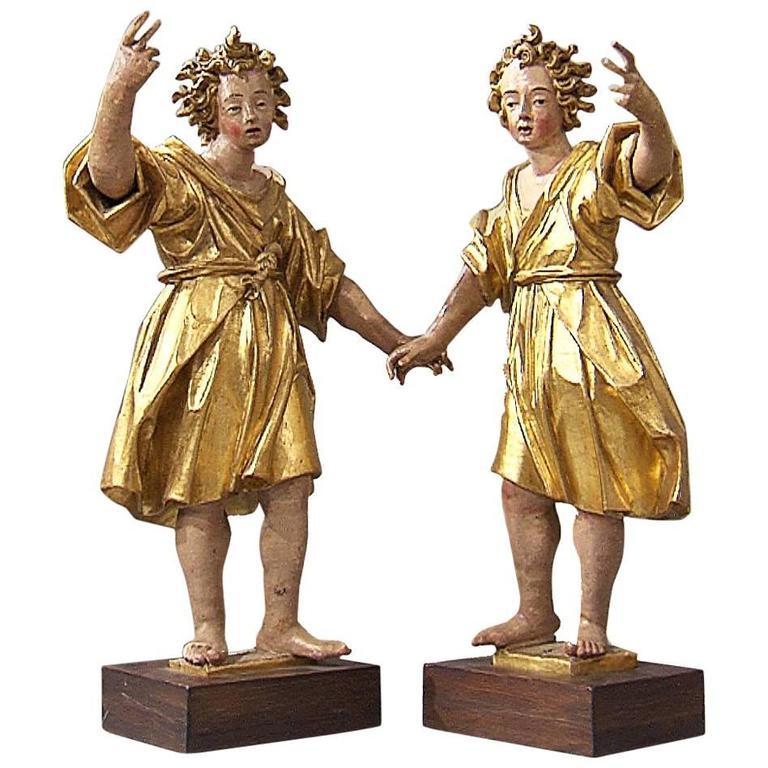 17th Century Italian Wood Sculptures
