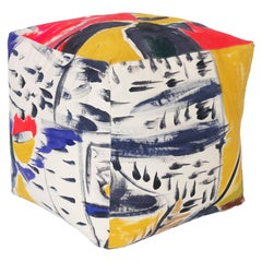 Hand-Painted Cotton Canvas Cube