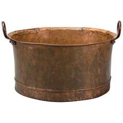 A Swedish Patinated Copper Pot