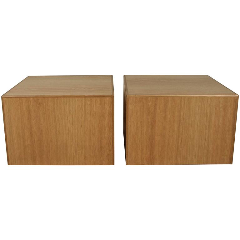 Large Oak Cube Table by Lawson-Fenning