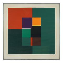 1960s Abstract Lithograph