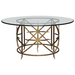 Gilded Iron Dining Table/Center Table