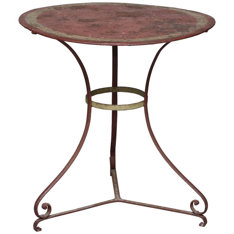19th Century French Painted Tole Cafe Table