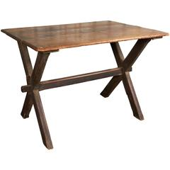 Rustic English Trestle Table