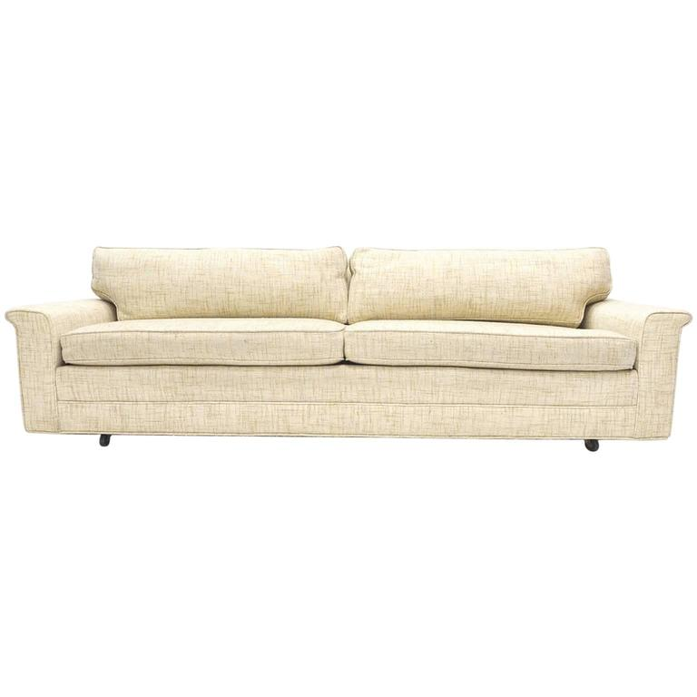 Sleek Tuxedo Dunbar Sofa Model 488 by Edward Wormley