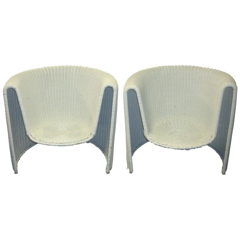 Modern Wicker Chairs For Sale at 1stdibs