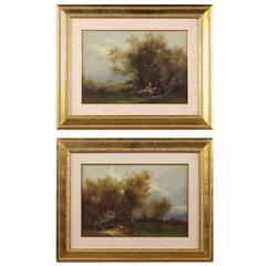 20th Century Pair of Italian Signed Paintings