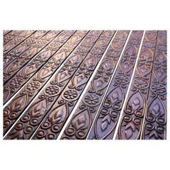 Seventeen Lengths of 1920s Carved Oak Mouldings
